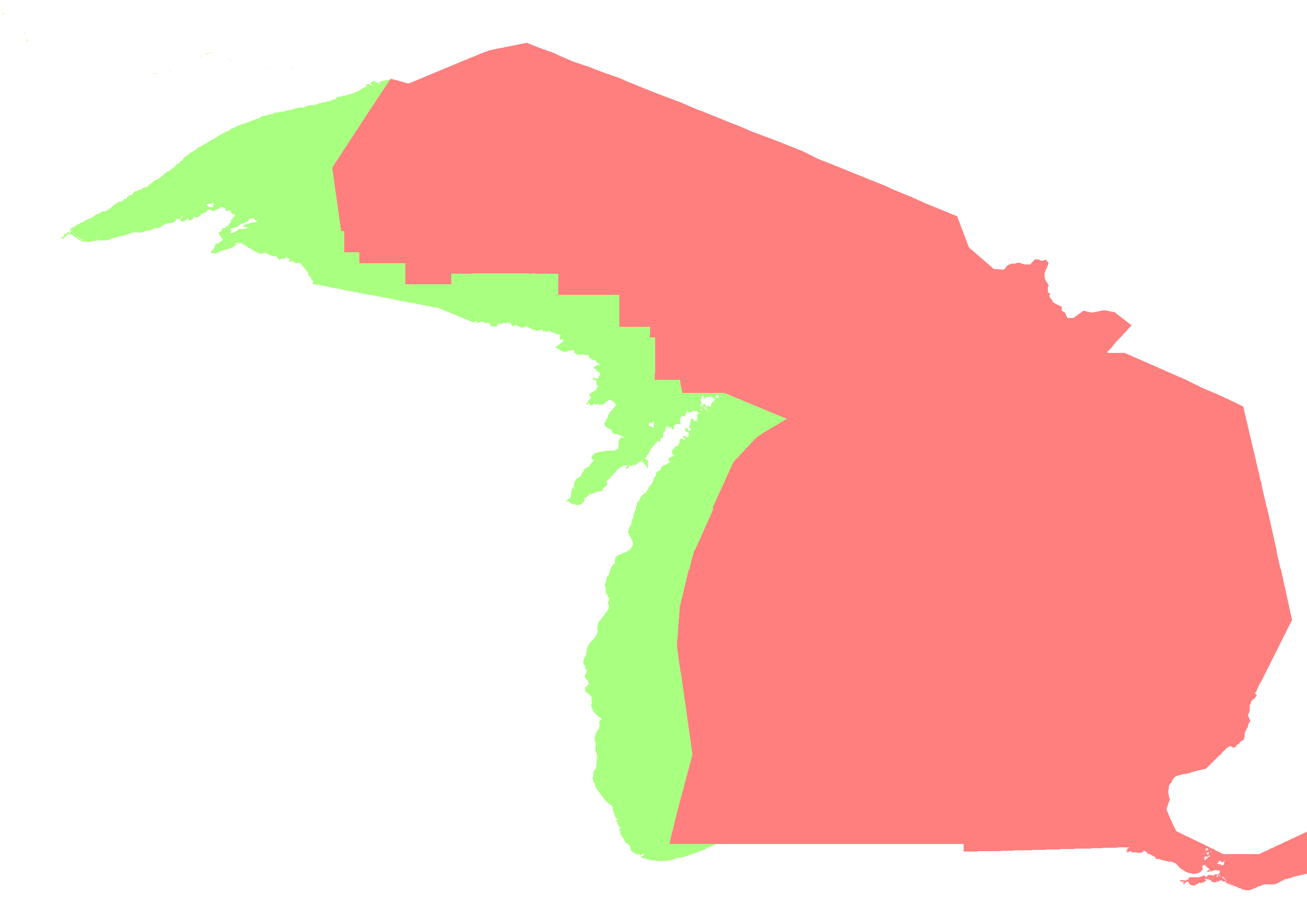 Michigan Time Zone Map