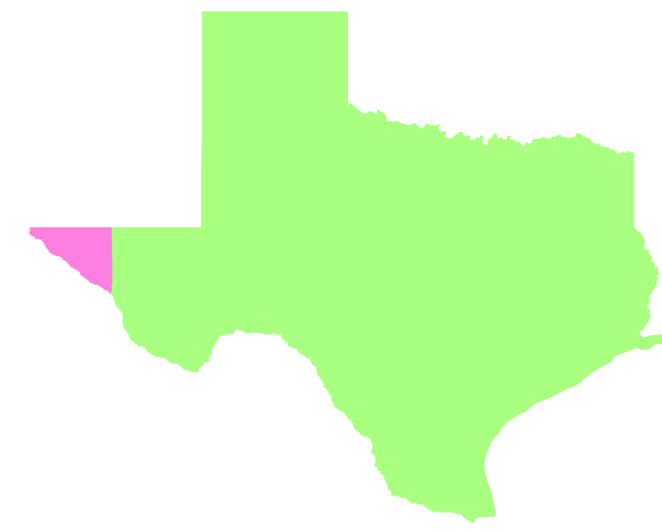 Texas Time Zone Map - Map of us time zones texas